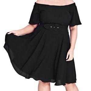 City Chic Black Miss Lady Valerie Dress